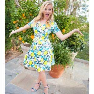 Draper James Lemon Orchard Love Circle Dress  S/O!